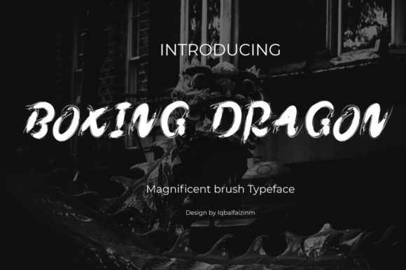 Print on Demand: Boxing Dragon Display Font By iqbalfaizinm