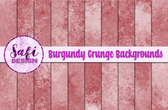 Print on Demand: Burgundy Grunge Backgrounds Graphic Backgrounds By Safi Designs