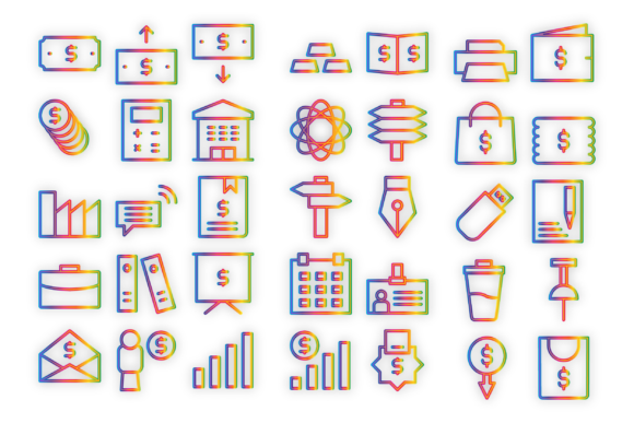 Download Free Business Commerce Icons Graphic By Designvector10 Creative Fabrica for Cricut Explore, Silhouette and other cutting machines.