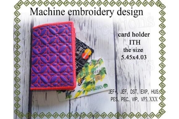 Download Free Card Holder In The Hoop Creative Fabrica for Cricut Explore, Silhouette and other cutting machines.