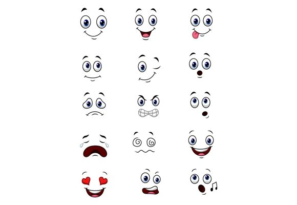 Cartoon Faces Clip Art Set Graphic Graphic Illustrations By tigatelusiji