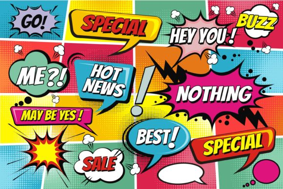 Print on Demand: Comic Speech Pop Art Style Graphic Illustrations By edywiyonopp