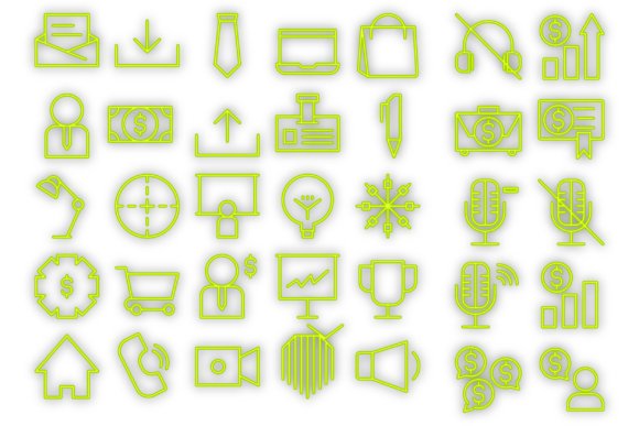 Download Free Company Marketing Icons Graphic By Designvector10 Creative Fabrica for Cricut Explore, Silhouette and other cutting machines.