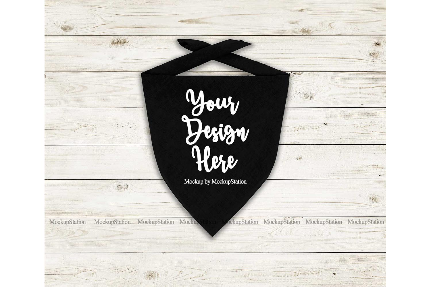 Download Free Dog Bandana Mockup Pet Black Scarf Graphic By Mockup Station for Cricut Explore, Silhouette and other cutting machines.