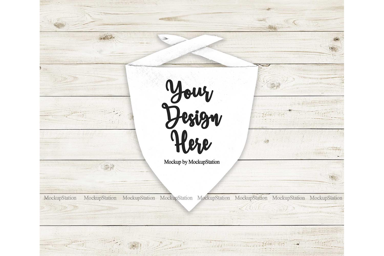 Download Free Dog Bandana Mockup Pet White Scarf Graphic By Mockup Station for Cricut Explore, Silhouette and other cutting machines.