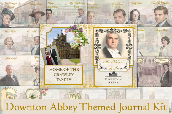 Print on Demand: Downton Abbey Journal Kit & Ephemer Graphic Backgrounds By The Paper Princess
