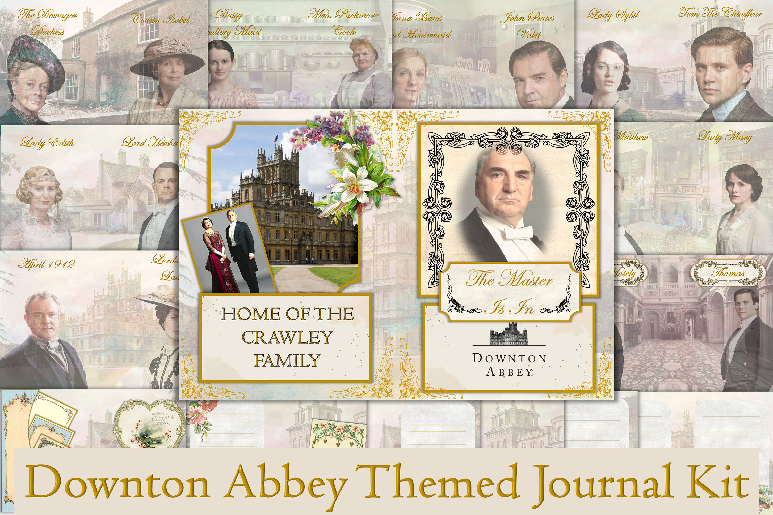 Download Free Downton Abbey Journal Kit Ephemer Graphic By The Paper for Cricut Explore, Silhouette and other cutting machines.
