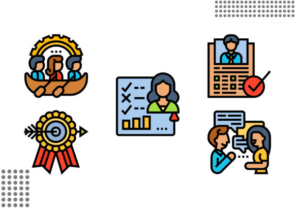 Employee Appraisal Graphic Icons By cool.coolpkm3