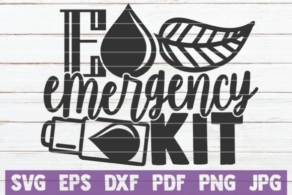 Download Free Essential Oils Emergency Kit Graphic By Mintymarshmallows for Cricut Explore, Silhouette and other cutting machines.