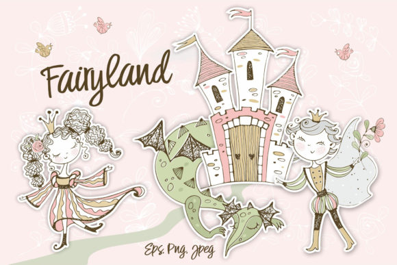 Fairyland. Graphic Illustrations By grigaola
