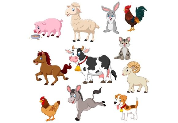 Download Free Farm Animals Clip Art Set Graphic Graphic By Tigatelusiji for Cricut Explore, Silhouette and other cutting machines.