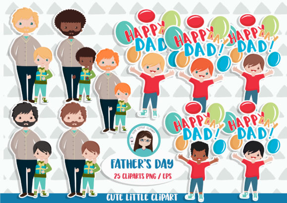 Download Free Father S Day Cliparts Graphic By Cutelittleclipart Creative for Cricut Explore, Silhouette and other cutting machines.