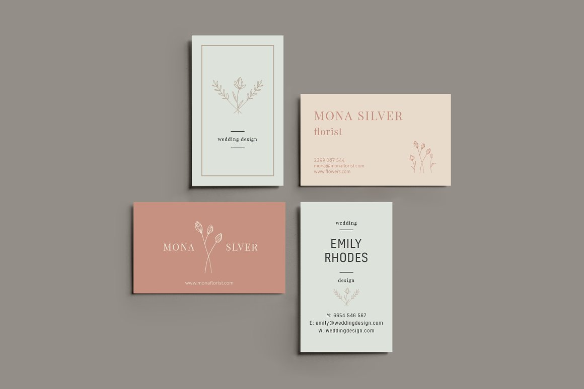 Download Free Floral Business Card Template Graphic By Krisjanis Creative for Cricut Explore, Silhouette and other cutting machines.