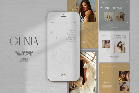 Download Free Genia Instagram Templates Graphic By Qohhaarqhaz Creative Fabrica for Cricut Explore, Silhouette and other cutting machines.