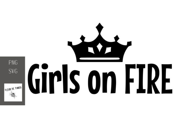 Download Free Girls On Fire Graphic By Fleur De Tango Creative Fabrica for Cricut Explore, Silhouette and other cutting machines.