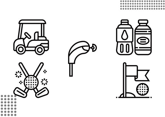 Golf Element Graphic Icons By cool.coolpkm3