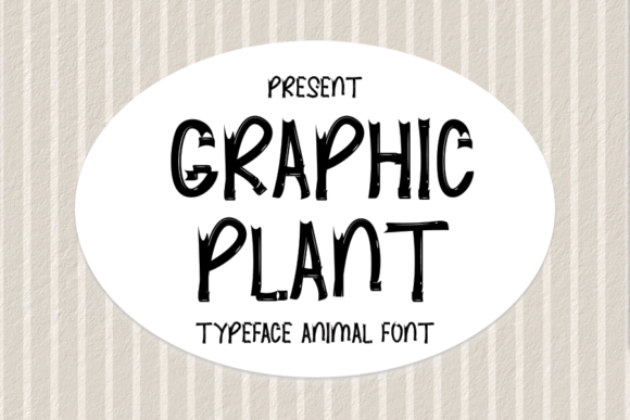 Print on Demand: Graphic Plant Display Font By ONE DESIGN