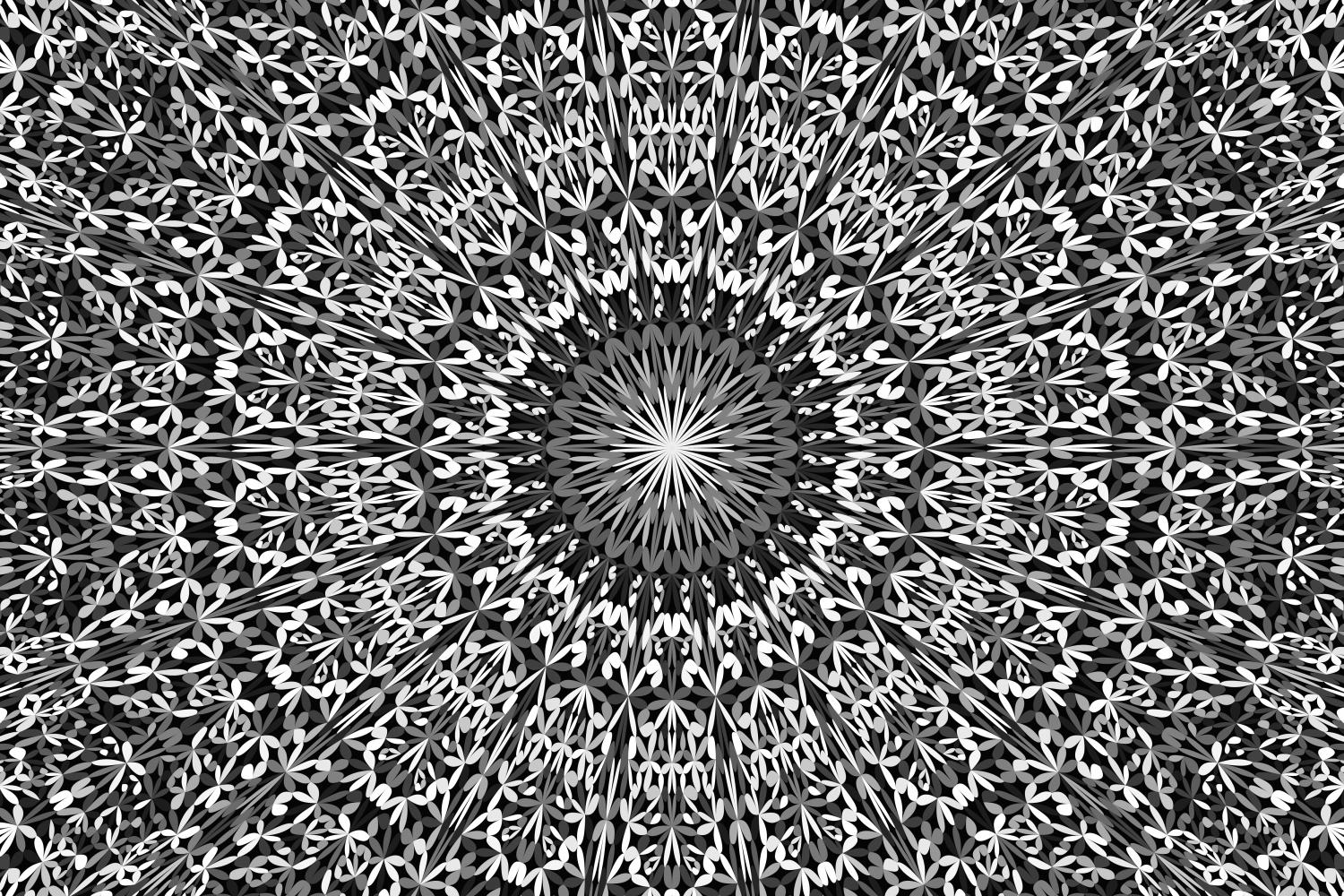 Download Free Grey Floral Mandala Background Graphic By Davidzydd Creative Fabrica for Cricut Explore, Silhouette and other cutting machines.