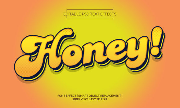 HoneyText Effects Style Graphic Layer Styles By Neyansterdam17