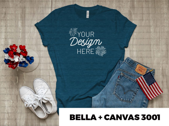 Download Free Heather Deep Teal Bella Canvas 3001 Graphic By Studiolemongrove for Cricut Explore, Silhouette and other cutting machines.
