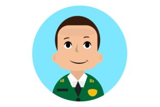 Download Free Icon Character Army Military Man Vector Graphic By for Cricut Explore, Silhouette and other cutting machines.