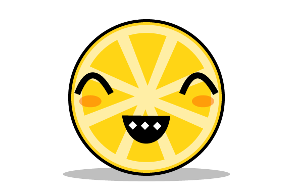 Download Free Illustration Of A Happy Smiling Orange Graphic By Yapivector for Cricut Explore, Silhouette and other cutting machines.