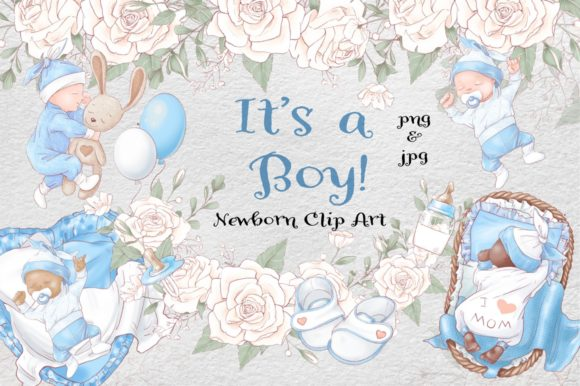 Print on Demand: It's a Boy! Graphic Illustrations By nicjulia - Image 1