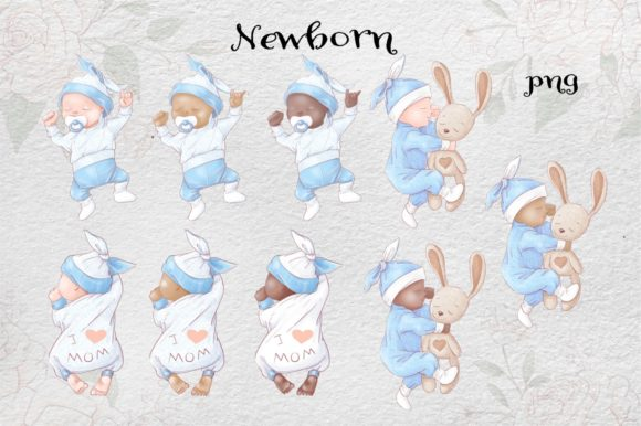 Print on Demand: It's a Boy! Graphic Illustrations By nicjulia - Image 2