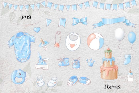 Print on Demand: It's a Boy! Graphic Illustrations By nicjulia - Image 5