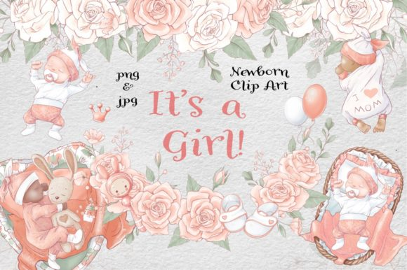 Print on Demand: It's a Girl Graphic Illustrations By nicjulia - Image 1