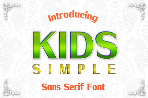 Download Free Kids Simple Font By Numnim Creative Fabrica for Cricut Explore, Silhouette and other cutting machines.