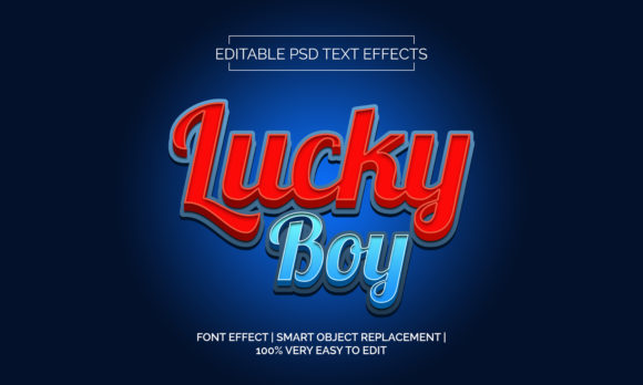 Download Free Lucky Boy Text Effects Style Graphic By Neyansterdam17 for Cricut Explore, Silhouette and other cutting machines.
