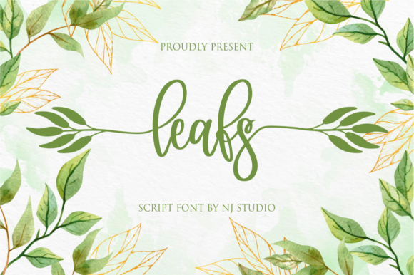 Print on Demand: Leafs Script & Handwritten Font By NJStudio