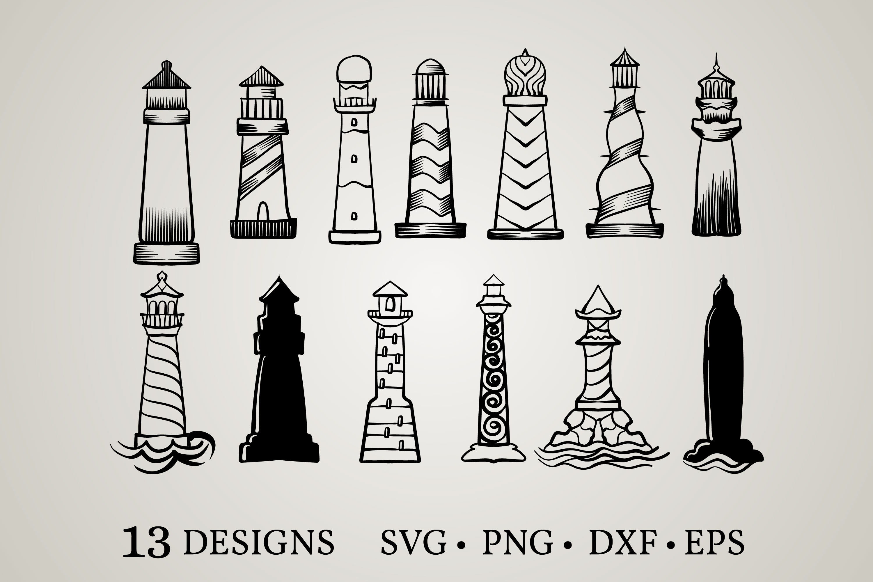 Download Free Lighthouse Bundle Graphic By Euphoria Design Creative Fabrica SVG Cut Files