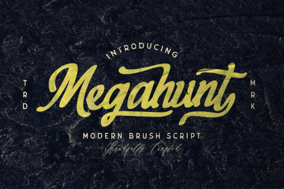 Download Free Megahunt Font By Stringlabs Creative Fabrica for Cricut Explore, Silhouette and other cutting machines.