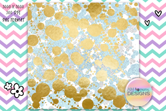 Print on Demand: Mint and Gold Glitter Background/Texture Graphic Backgrounds By AM Digital Designs