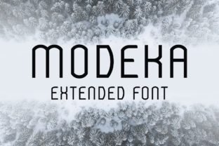 Print on Demand: Modeka Extended Display Font By WildOnes