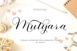 Print on Demand: Mutyara Script & Handwritten Font By Aqeela Studio