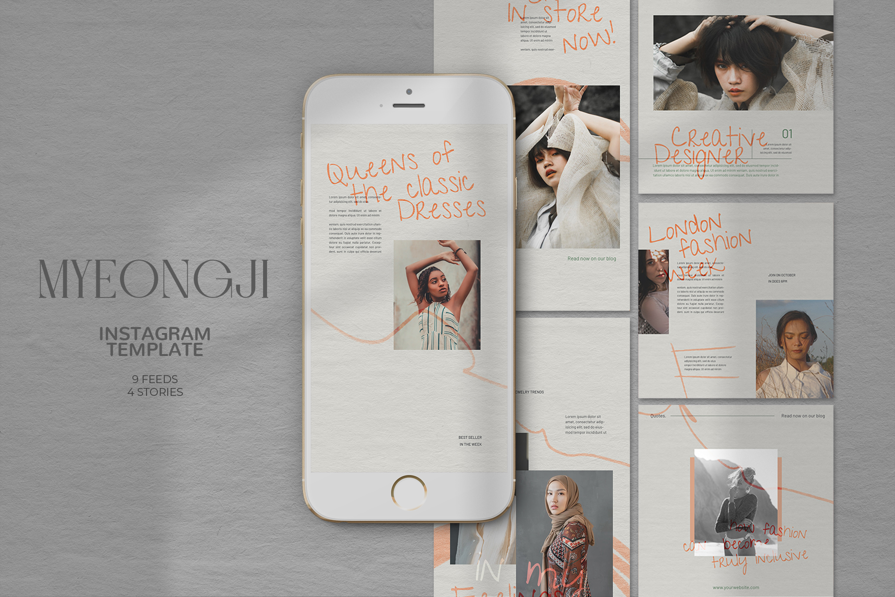 Download Free Myeongji Instagram Templates Graphic By Qohhaarqhaz Creative for Cricut Explore, Silhouette and other cutting machines.