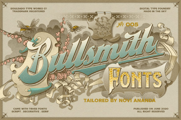 Print on Demand: NS Bullsmith Display Font By NoviSouldado