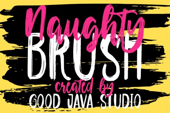 Print on Demand: Naughty Script & Handwritten Font By goodjavastudio