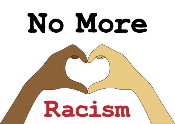 Download Free No More Racism Poster Graphic By Studioisamu Creative Fabrica for Cricut Explore, Silhouette and other cutting machines.