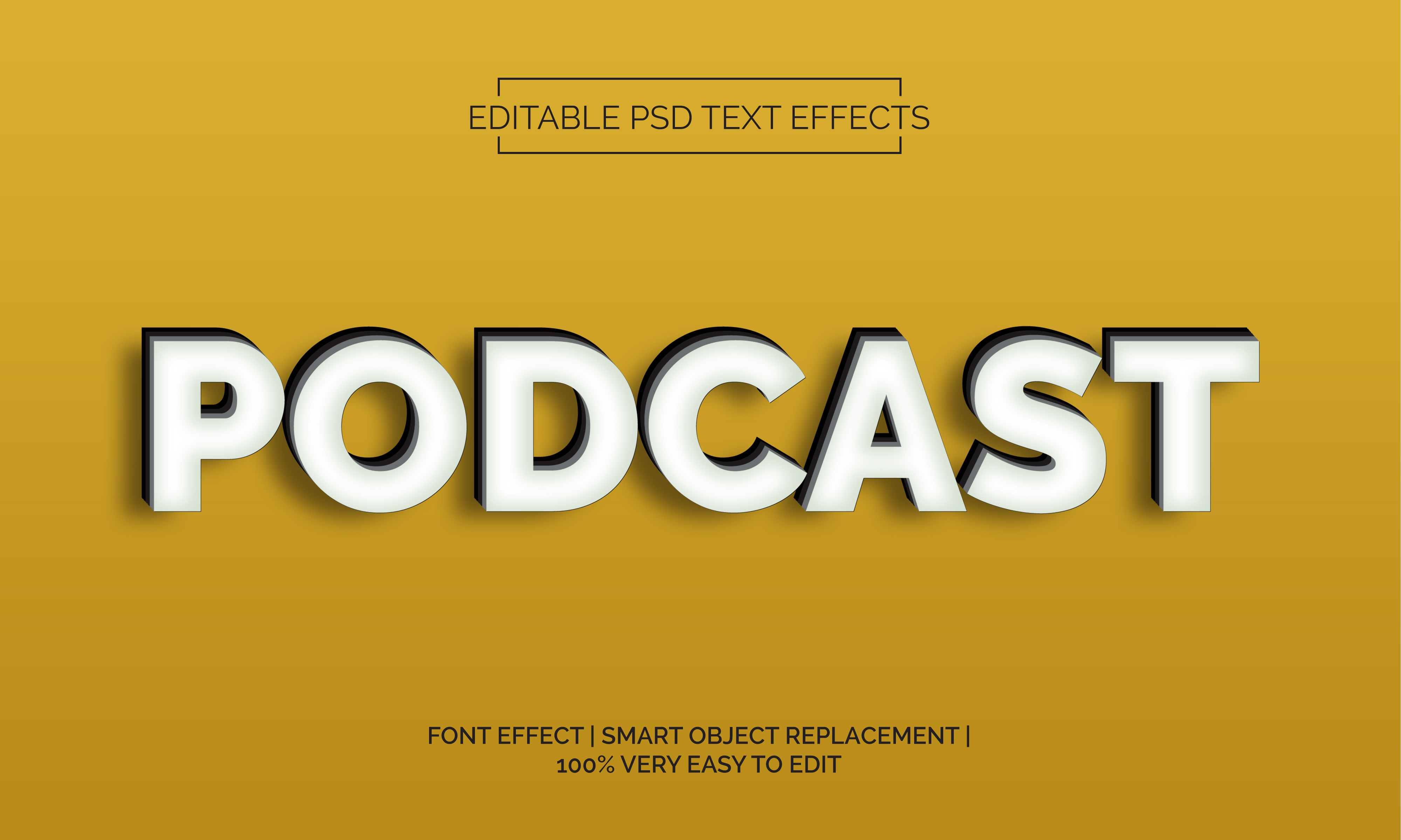 Download Free Podcast 2 Text Effects Style Graphic By Neyansterdam17 Creative Fabrica for Cricut Explore, Silhouette and other cutting machines.