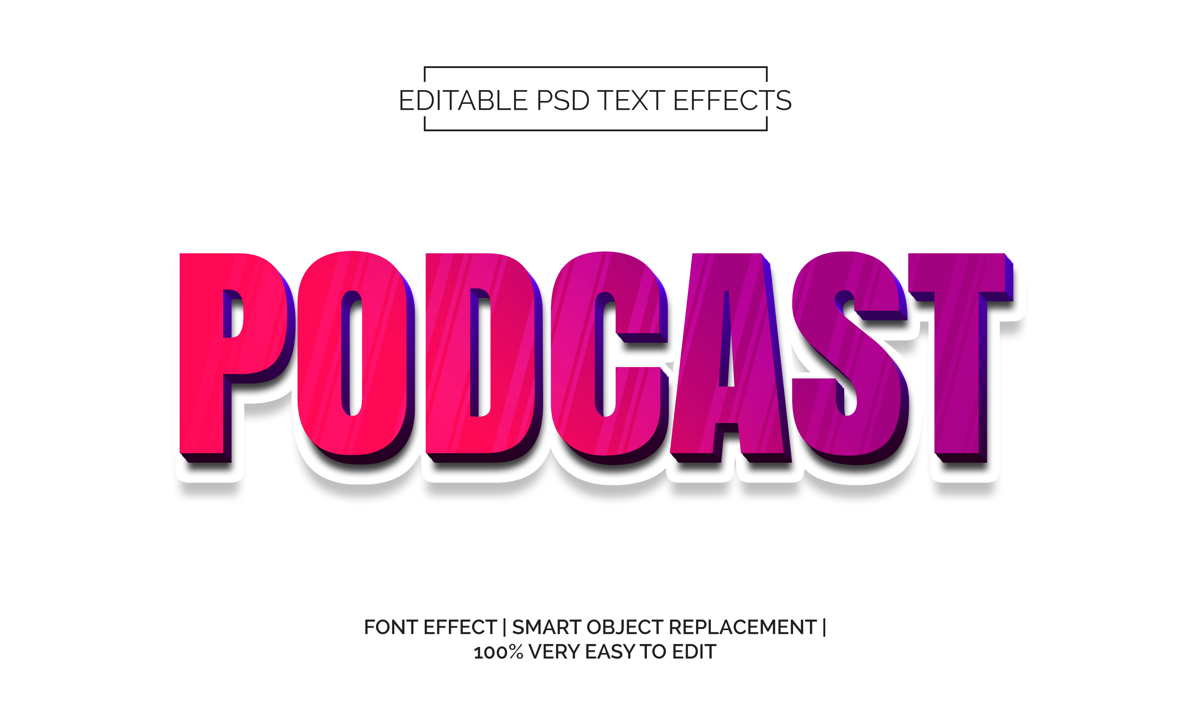 Download Free Podcast Text Effect Style Graphic By Neyansterdam17 Creative for Cricut Explore, Silhouette and other cutting machines.