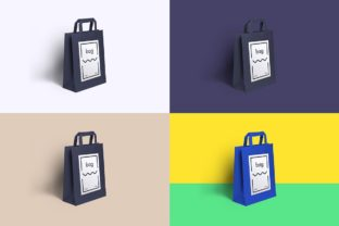 Paper Bag Mockup Graphic Product Mockups By WildOnes 5