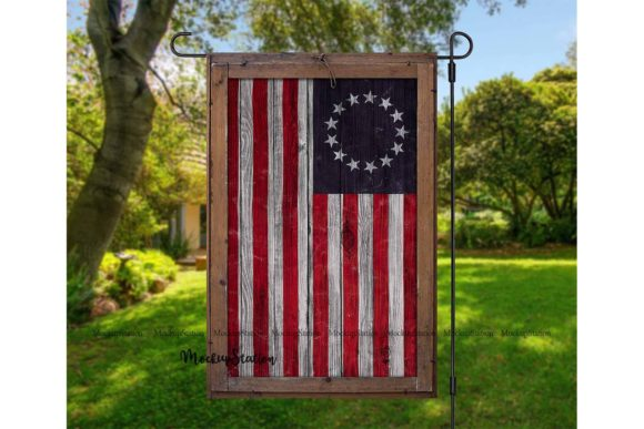 Print on Demand: Patriotic Betsy Ross Garden Flag   Graphic Illustrations By Mockup Station