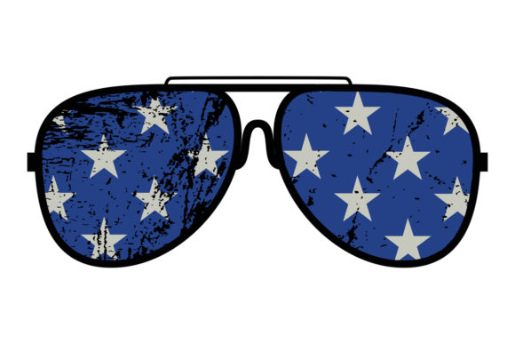 Download Free Patriotic Stars Blue Distress Sunglasses Graphic By Sunandmoon for Cricut Explore, Silhouette and other cutting machines.