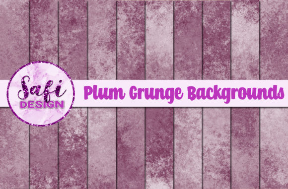 Print on Demand: Plum Grunge Backgrounds Graphic Backgrounds By Safi Designs
