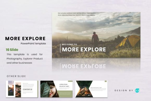 Download Free Powerpoint Template Mount Explore Graphic By Maju57creative for Cricut Explore, Silhouette and other cutting machines.