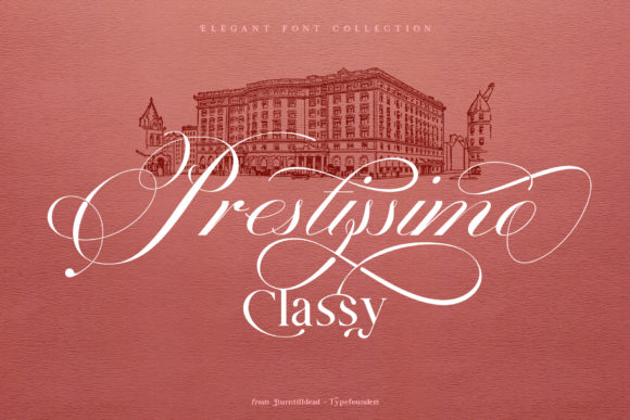 Download Free Prestissimo Classy Font By Burntilldead Creative Fabrica for Cricut Explore, Silhouette and other cutting machines.